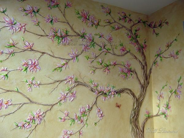Декоративная роспись стен фото