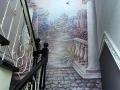 Роспись барельефа на стене