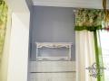 Свободная кистевая роспись полок на кухне. Акрил, лак.